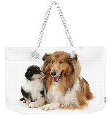 Weekender Tote Bag featuring the photograph Proud Mother And Pup by Warren Photographic