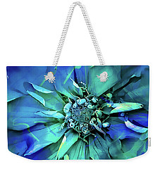 Weekender Tote Bag featuring the digital art Psychedelic Blues by Cindy Greenstein