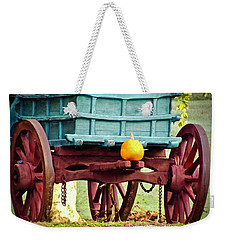 Weekender Tote Bag featuring the photograph Pumpkin Trail Mix by Don Moore