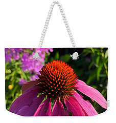 Weekender Tote Bag featuring the photograph Purple Coneflower by Lukas Miller
