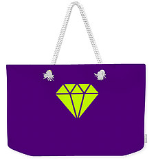 Purple Diamond Yellow Weekender Tote Bag
