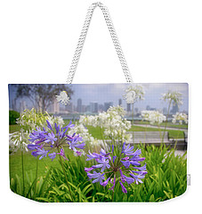Purple Flowers In San Diego Weekender Tote Bag