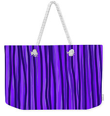 Purple Lines Weekender Tote Bag
