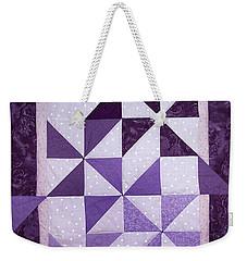 Purple Pinwheels Pirouetting Weekender Tote Bag