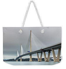 Weekender Tote Bag featuring the photograph Queensferry Crossing Bridge 3-1 by Grant Glendinning