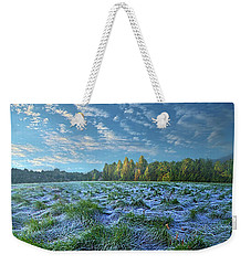Weekender Tote Bag featuring the photograph Quiet Grace by Phil Koch