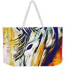 Weekender Tote Bag featuring the mixed media Quiet Strength by Jessica Eli