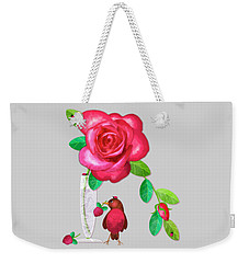 R Is For Rose And Robin Weekender Tote Bag