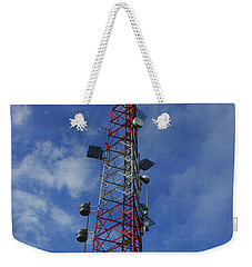 Weekender Tote Bag featuring the photograph Radio Tower On Mount Greylock by Raymond Salani III