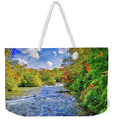 Weekender Tote Bag featuring the photograph Raging Beauty At Niagara Falls by Lynn Bauer