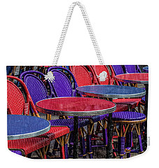 Rain On Paris Tables Weekender Tote Bag