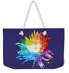 Rainbow Chrysanthemum Weekender Tote Bag