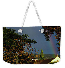 Rainbow Ended At The Church Weekender Tote Bag