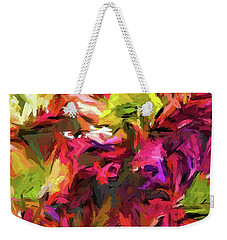 Rainbow Flower Rhapsody In Pink And Purple Weekender Tote Bag