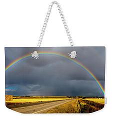 Rainbow Over Crop Land Weekender Tote Bag