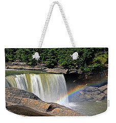 Weekender Tote Bag featuring the photograph Rainbow Over Cumberland Falls by Angela Murdock