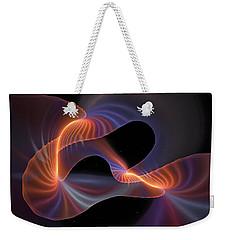 Rainbow Shimmer Weekender Tote Bag