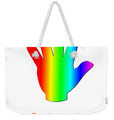 Rainbow Wave Weekender Tote Bag