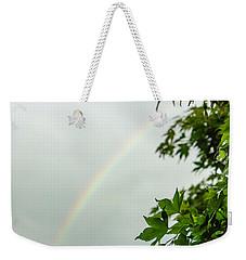 Rainbow With Leaves In Foreground Weekender Tote Bag