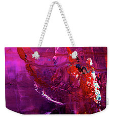 Rainy Day Woman - Purple And Red Large Abstract Art Painting Weekender Tote Bag