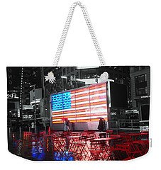 Rainy Days In Time Square  Weekender Tote Bag