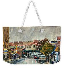 Rainy Morning 231st Street The Bronx Weekender Tote Bag