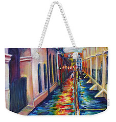 Rainy Pirate Alley Weekender Tote Bag