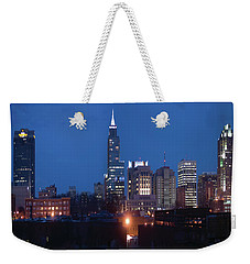 Raleigh Skyline Night Photo 16 X 20 Ratio Weekender Tote Bag