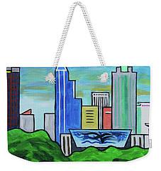 Raleigh Skyline No Perspective 16 X 20 Ratio Weekender Tote Bag