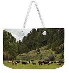 Ranch Horses At Pasture Weekender Tote Bag