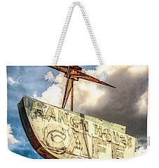 Weekender Tote Bag featuring the photograph Ranch House Cafe by Lou Novick