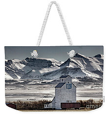 Weekender Tote Bag featuring the photograph Ranchland Elevator by Brad Allen Fine Art