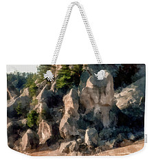 Weekender Tote Bag featuring the photograph Raramuri Runners by Susan Parish