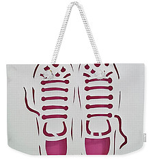 Weekender Tote Bag featuring the mixed media Ready by Phyllis Howard