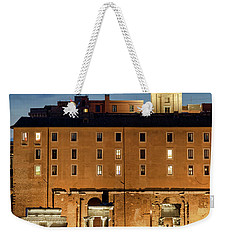 Weekender Tote Bag featuring the photograph Rear View Of The Campidoglio by Fabrizio Troiani