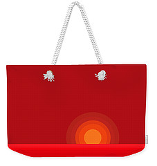 Red Abstract Sunset II Weekender Tote Bag