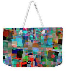 Weekender Tote Bag featuring the digital art Red Alert by Edmund Nagele
