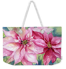 Red And Pink Poinsettias Weekender Tote Bag
