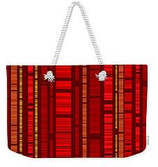Red Bamboo Weekender Tote Bag