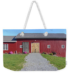 Weekender Tote Bag featuring the photograph Red Barn by Rosanne Licciardi
