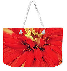 Weekender Tote Bag featuring the digital art Red Bliss by Cindy Greenstein