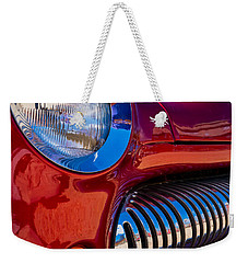 Red Car Chrome Grill Weekender Tote Bag