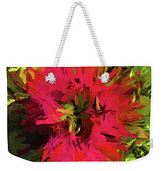 Red Flower Flames Weekender Tote Bag