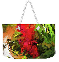 Red Flower On The Branch Weekender Tote Bag