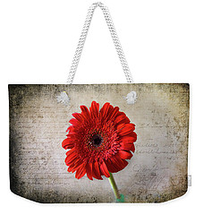 Red Gerbera Weekender Tote Bag