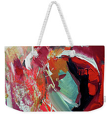 Weekender Tote Bag featuring the painting RED by John Jr Gholson