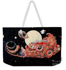 Red Nebula Weekender Tote Bag