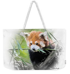 Weekender Tote Bag featuring the painting Red Panda by Chris Armytage