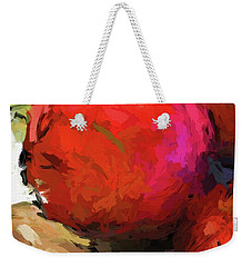 Red Pomegranate In The Yellow Light Weekender Tote Bag