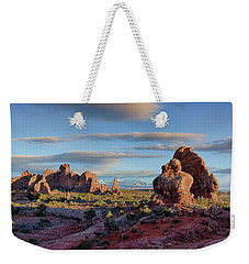 Weekender Tote Bag featuring the photograph Red Rock Formations Arches National Park  by Nathan Bush